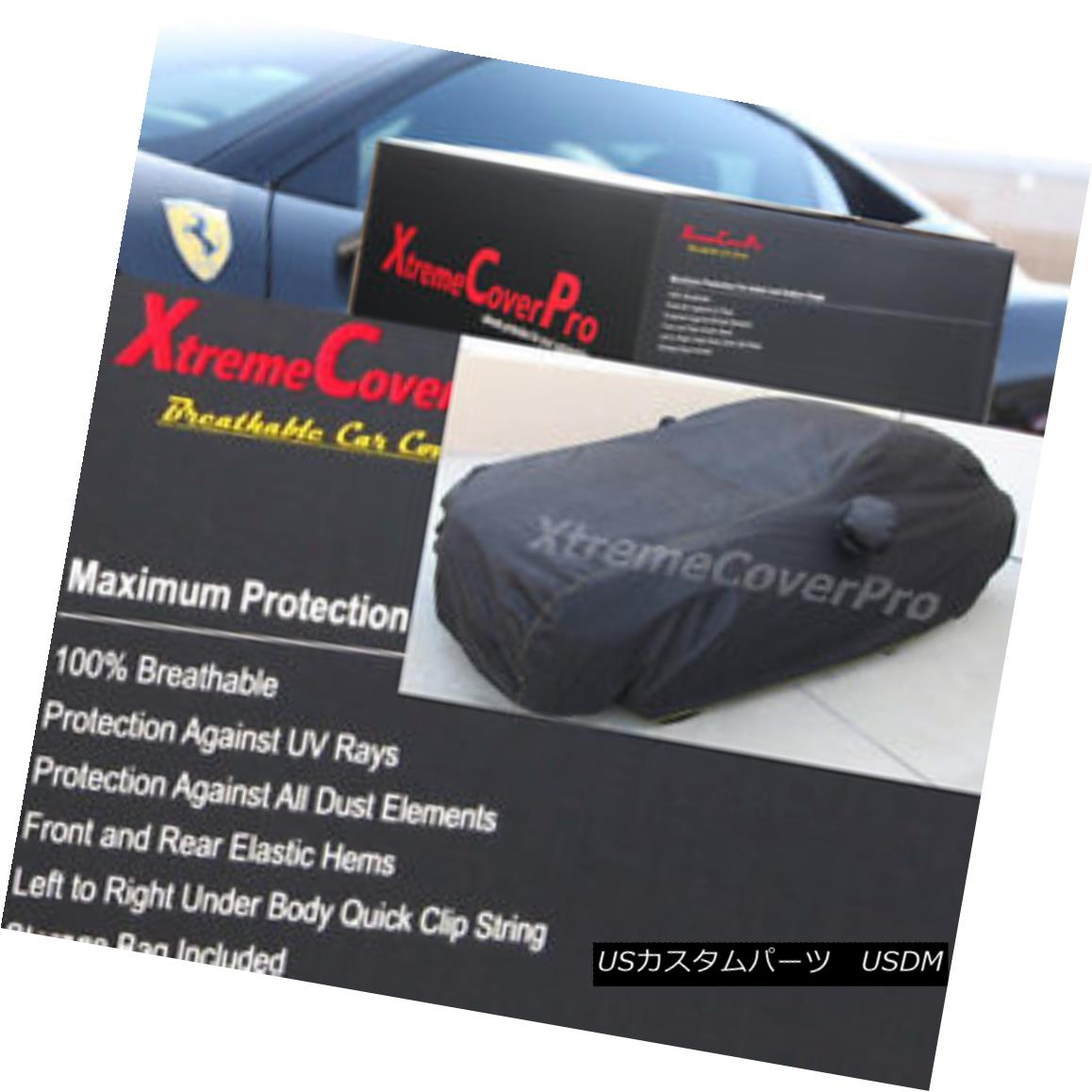カーカバー 2015 CADILLAC ELR COUPE Breathable Car Cover w/Mirror Pockets - Black 2015 CADILLAC ELR COUPE通気性車カバー、ミラーポケット付き - ブラック