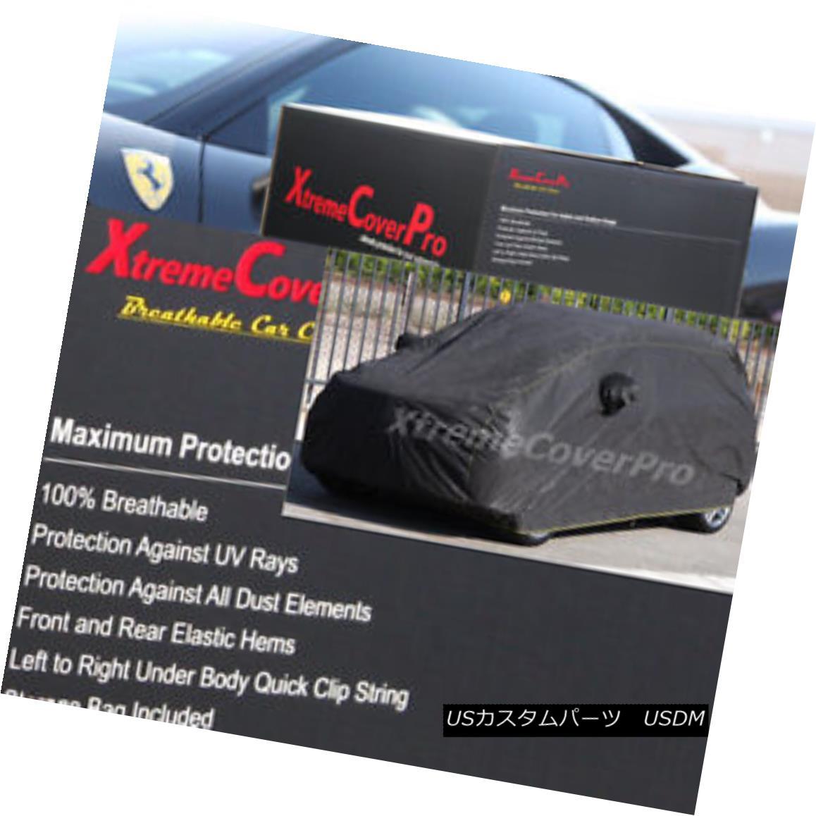 カーカバー 2015 SUBARU XV CROSSTREK Breathable Car Cover w/Mirror Pockets - Black 2015 SUBARU XV CROSSTREK通気性のある車カバー付き/ミラーポケット - ブラック
