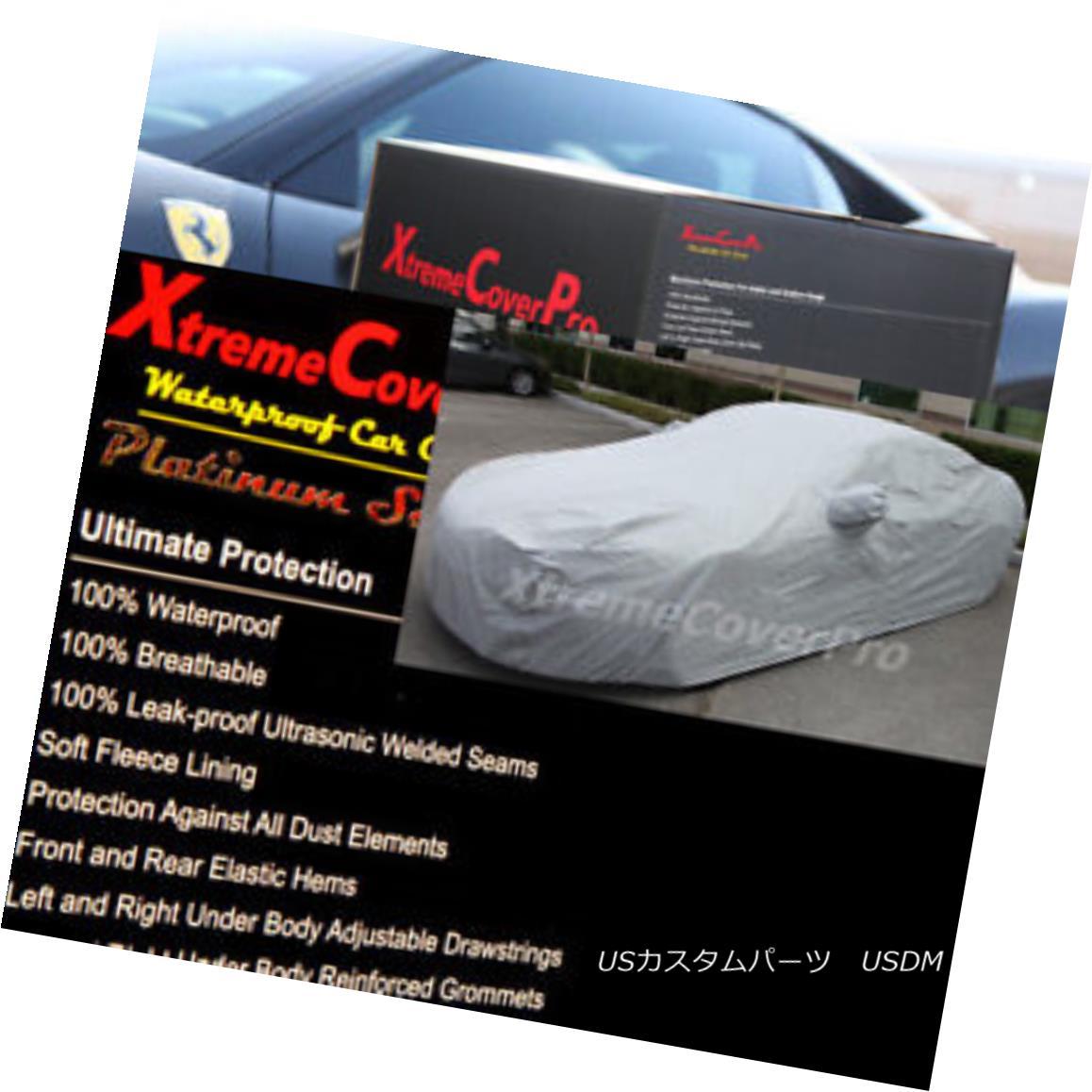 カーカバー 2015 CHRYSLER 300 Waterproof Car Cover w/Mirror Pockets - Gray 2015 CHRYSLER 300ミラーポケット付き防水カーカバー - グレー