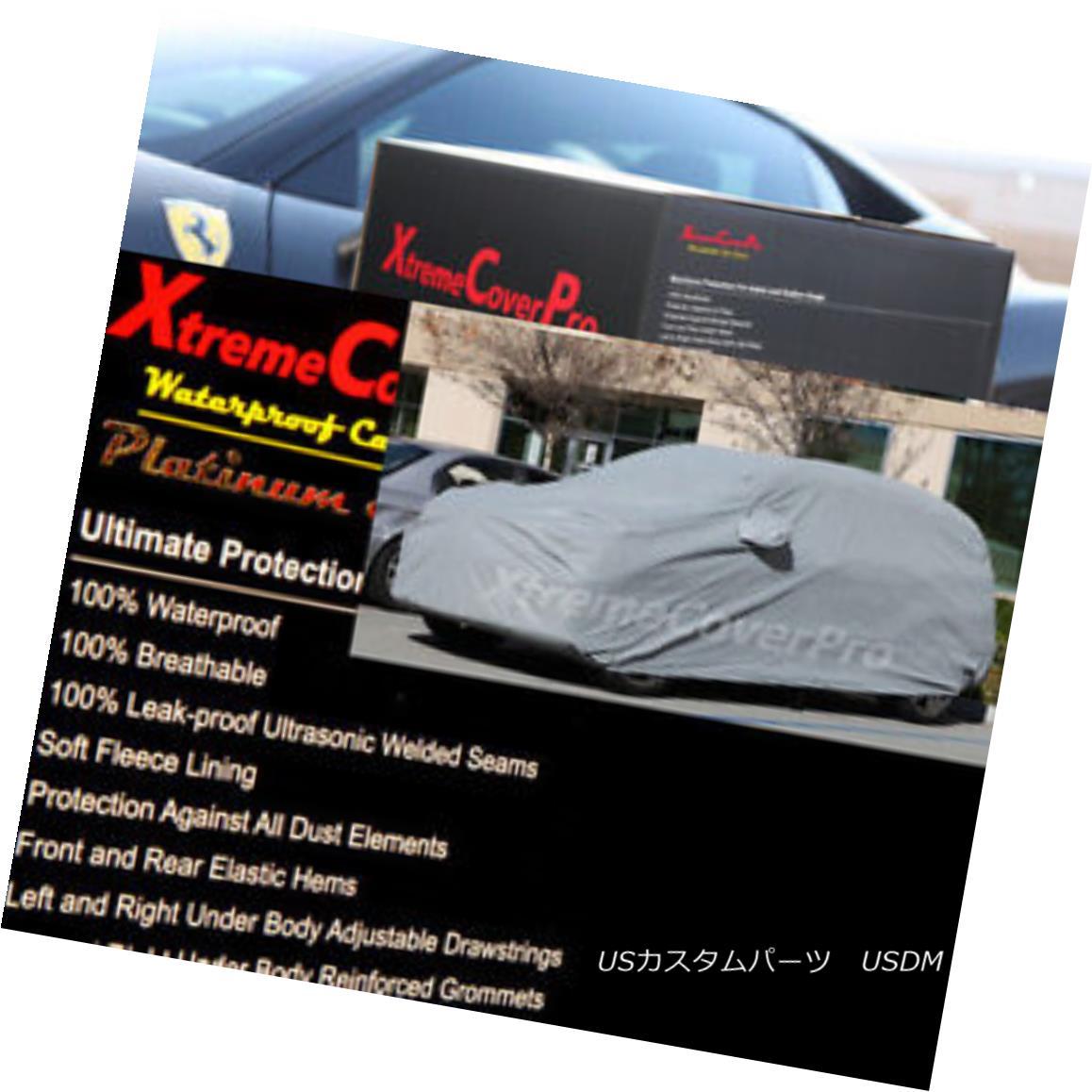カーカバー 2015 AUDI Q7 Waterproof Car Cover w/Mirror Pockets - Gray 2015 AUDI Q7ミラーポケット付き防水カーカバー - グレー
