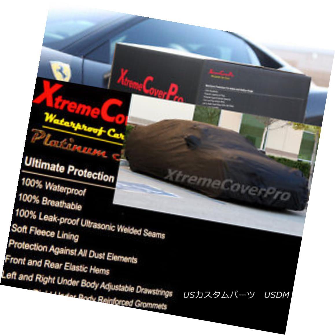カーカバー 2015 MITSUBISHI LANCER SPORTBACK Waterproof Car Cover w/Mirror Pockets - Black 2015 MITSUBISHI LANCER SPORTBACKミラーポケット付き防水カーカバー - ブラック