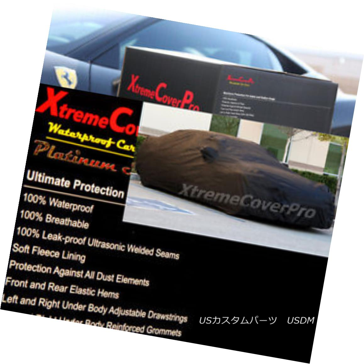 カーカバー 2015 MITSUBISHI LANCER Waterproof Car Cover w/Mirror Pockets - Black 2015 MITSUBISHI LANCERミラーポケット付き防水カーカバー - ブラック