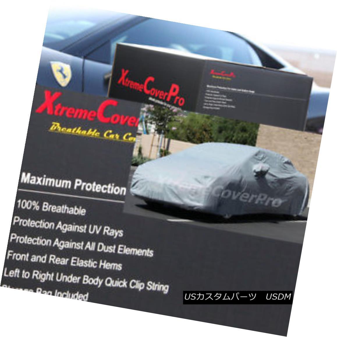 カーカバー 2015 MASERATI QUATTROPORTE S Q4 GTS Breathable Car Cover w/Mirror Pockets - Gray 2015 MASERATI QUATTROPORTE S Q4 GTS通気性車カバー、ミラーポケット付き - グレー