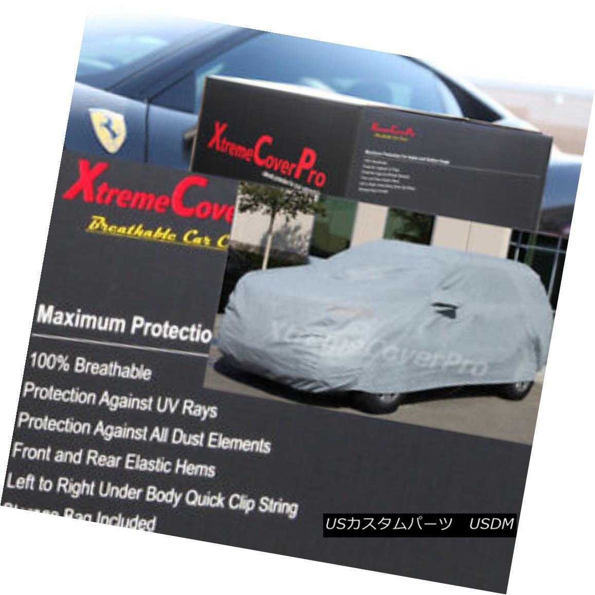 カーカバー 2018 DODGE GRAND CARAVAN BREATHABLE CAR COVER W/MIRROR POCKET - GREY 2018ドッジグランカーバンブレアブルカーカバー/ミラーポケット - グレー