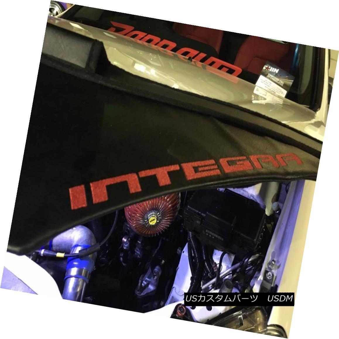 RED Car Hood Bra Fits Honda Acura Integra RSX 01 02 03 04 05 06 INTEGRA LOGO