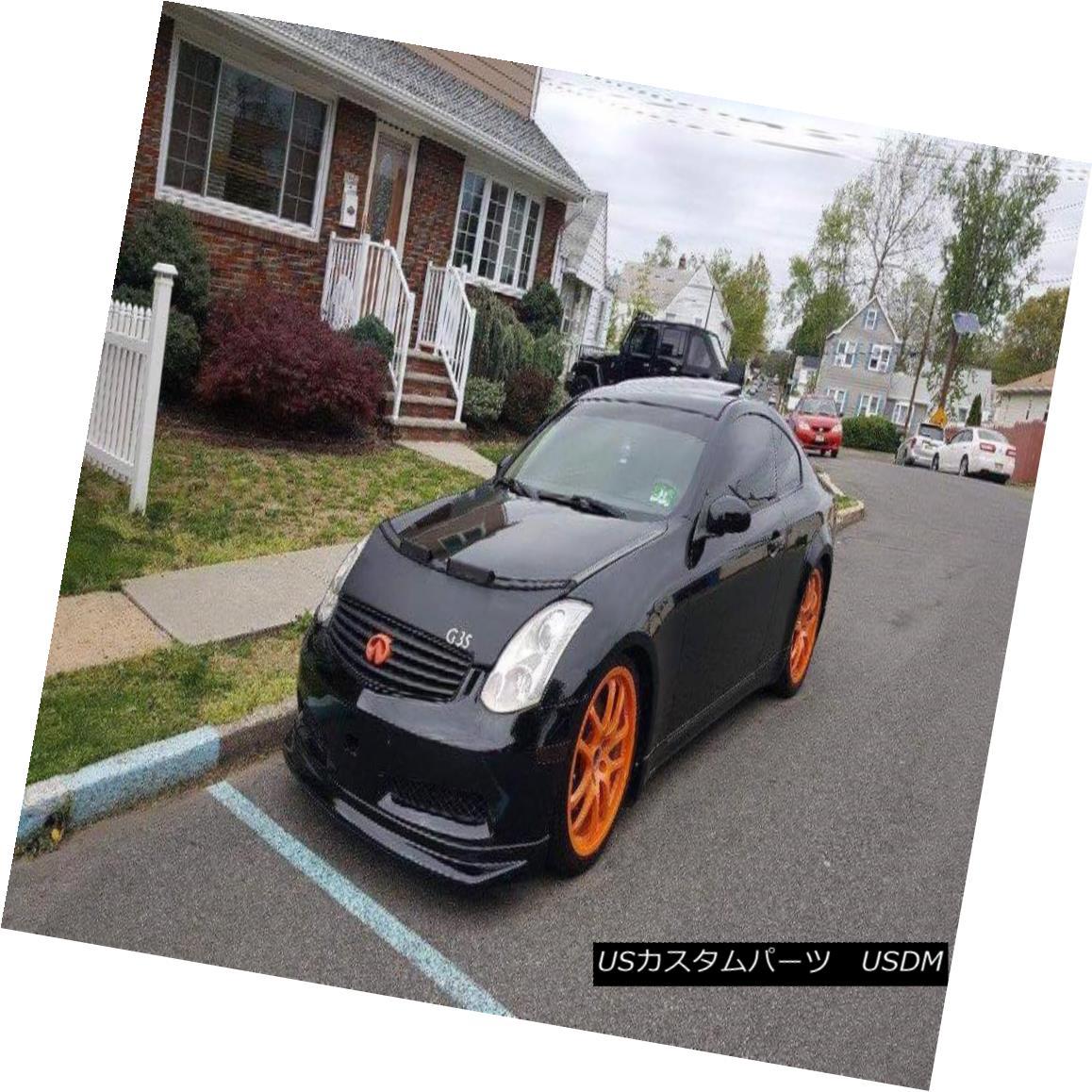 フルブラ ノーズブラ Car Bonnet Hood Bra + G35 LOGO Fits INFINITI G35 COUPE 2003 2004 2005 2006 2007 カーボンネットフードブラジャー+ G35ロゴフィットINFINITI G35 COUPE 2003 2004 2005 2006 2007