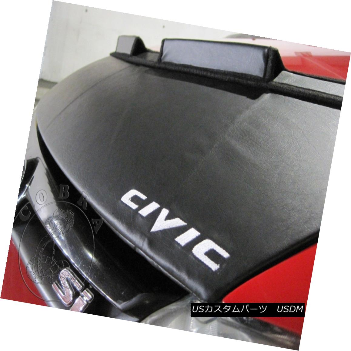 フルブラ ノーズブラ Car Bonnet Mask Hood Bra + LOGO Fits Honda Civic Sedan 06 07 08 09 2010 2011 カーボンネットマスクフードブラジャー+ロゴフィットホンダシビックセダン06 07 08 09 2010 2011