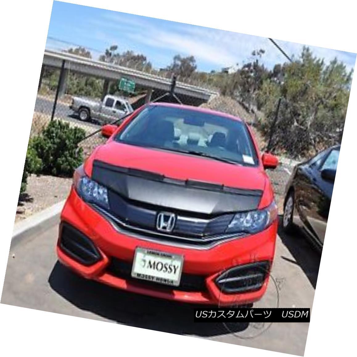 フルブラ ノーズブラ Car Hood Mask Bonnet Bra Fits Honda Civic Coupe 2014 2015 ホンダシビッククーペ2014 2015にフィットする車のフードマスクボンネットブラジャー