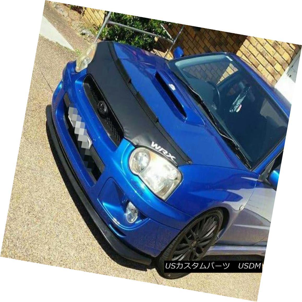 フルブラ ノーズブラ Car Hood Mask Bonnet Bra + WRX LOGO Fits SUBARU IMPREZA 2004 2005 04 05 カーフードマスクボンネットブラ+ WRXロゴフィットSUBARU IMPREZA 2004 2005 04 05