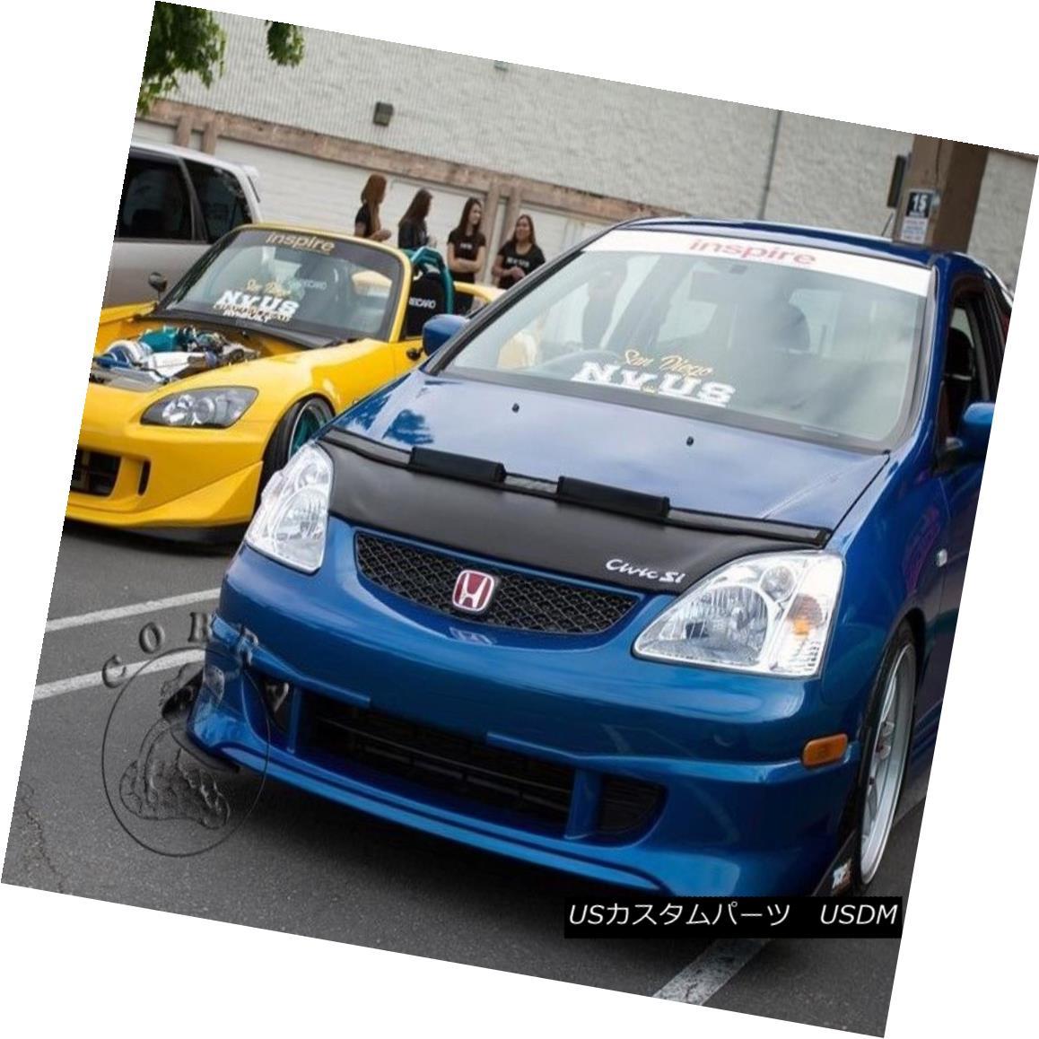 フルブラ ノーズブラ Car Bonnet Hood Bra + LOGO Fits Honda Civic 02 03 04 05 2002 2003 2004 2005 EP3 車ボンネットフードブラジャー+ロゴフィットホンダシビック02 03 04 05 2002 2003 2004 2005 EP3