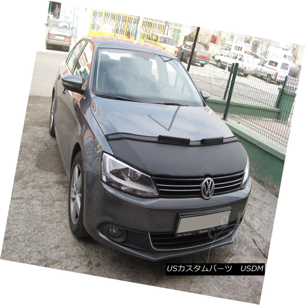 フルブラ ノーズブラ Car Bonnet Hood Bra Fits VW Volkswagen Jetta MK6 2011 12 13 14 15 16 17 2018 車ボンネットフードブラはVWに合うフォルクスワーゲンジェッタMK6 2011 12 13 14 15 16 17 2018