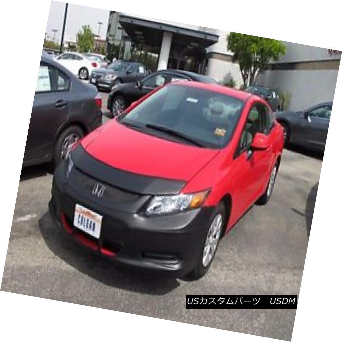 フルブラ ノーズブラ Colgan Front End Mask Bra 2pc. Fits Honda Civic Cpe DX,LX,EX 12-2013 w/License  コルガンフロントエンドマスクブラ2pc Honda Civic Cpe DX、LX、EX 12-2013(ライセンスあり)