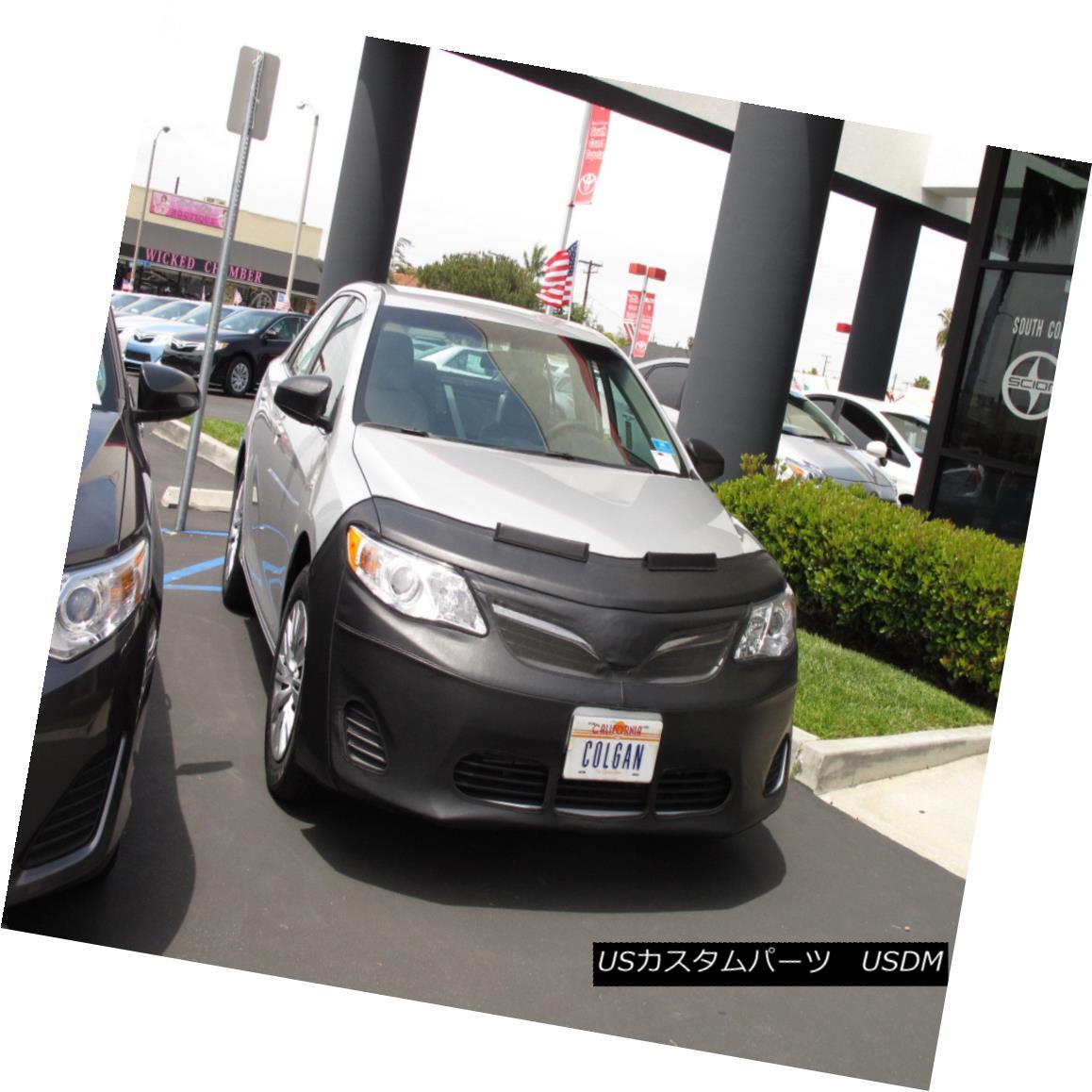 フルブラ ノーズブラ Colgan 2pc. Front Mask Bra + Mirror Covers Fits Toyota Camry 2012-2014 W/Tag コルガン2個。 フロントマスクブラ+ミラーカバーはトヨタカムリ2012-2014 W / Tagに適合