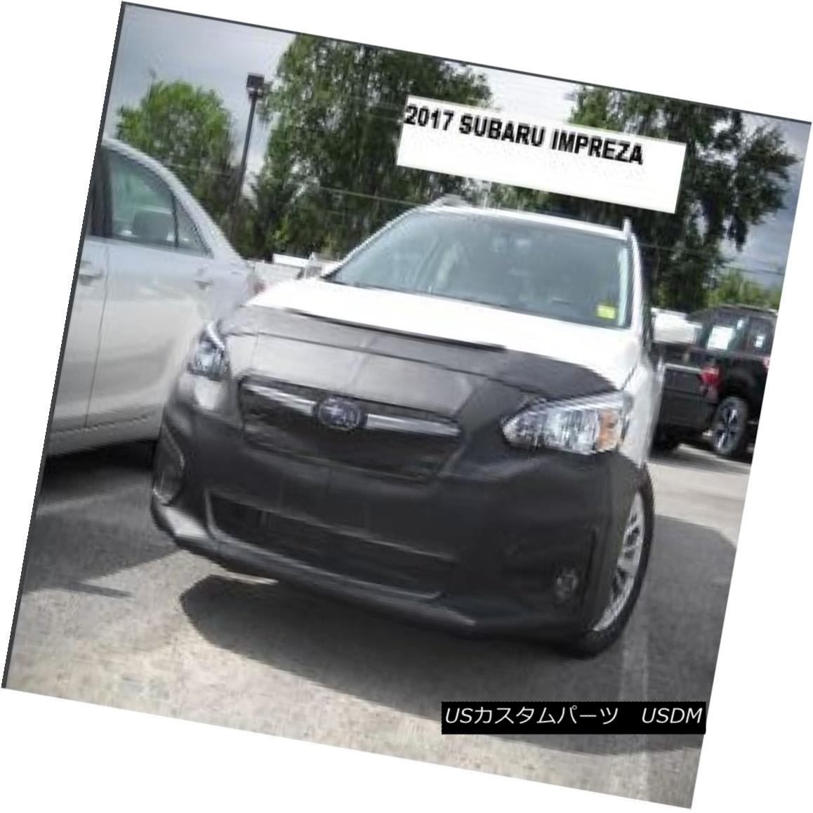 フルブラ ノーズブラ Lebra Front End Mask Cover Bra Fits Subaru Impreza 2017-2018 17-18 LebraフロントエンドマスクカバーブラはSubaru Impreza 2017-2018 17-18に適合