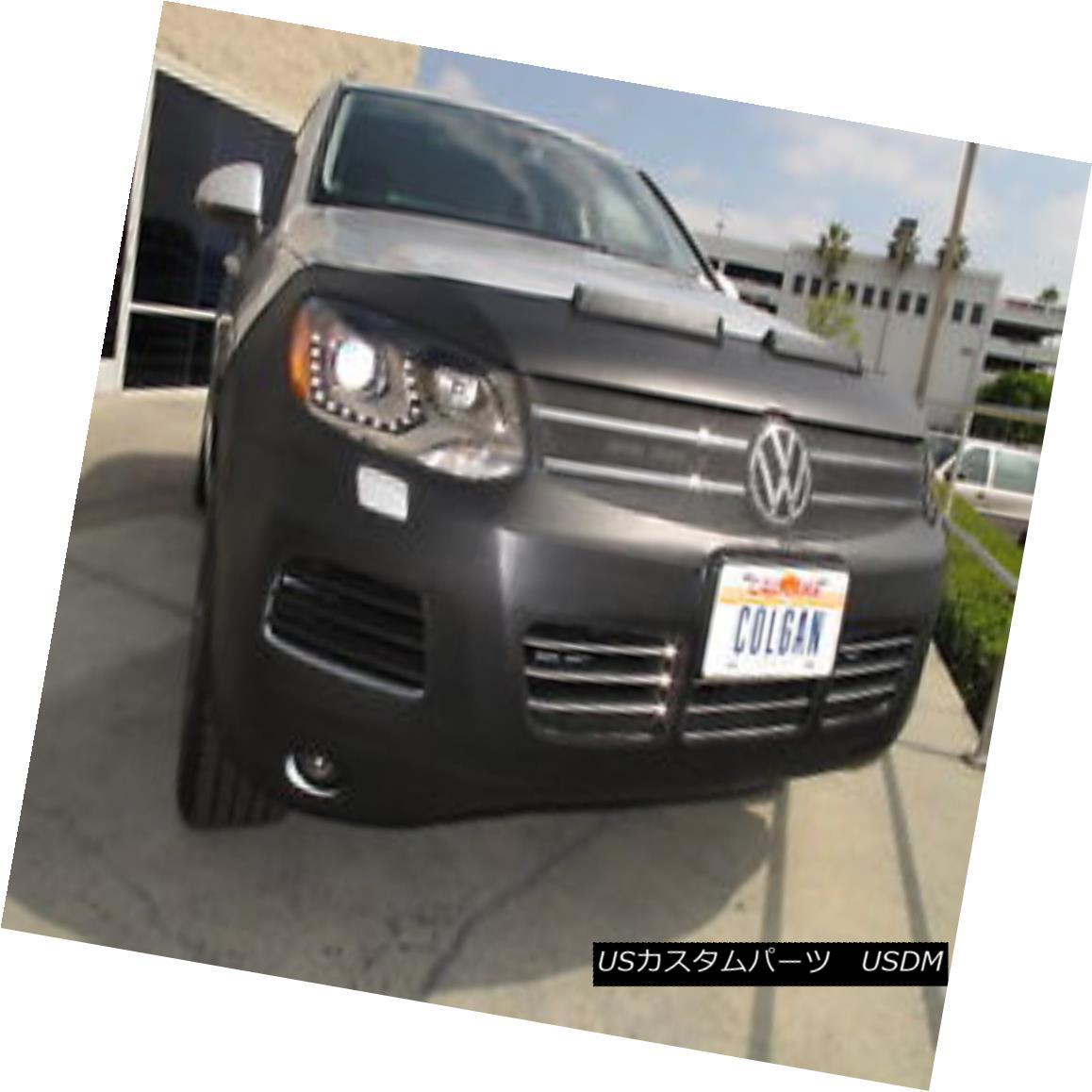 フルブラ ノーズブラ Colgan Front End Mask Bra 2pc. Fits VW Touareg 2011-2014 W/License コルガンフロントエンドマスクブラ2pc VW Touareg 2011-2014 W / Licenseに適合
