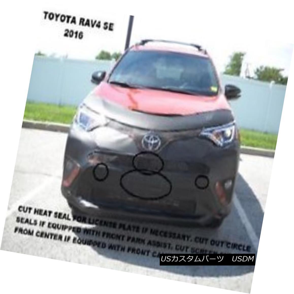 End Toyota RAV4 Lebraフロントエンド・カバー・ブラ・マスク・フィット2016 SE Front ノーズブラ Toyota フルブラ Cover Fits Lebra Mask Bra SE 2016 RAV4