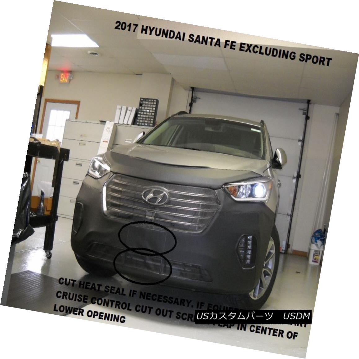 フルブラ ノーズブラ Lebra Front End Mask Cover Bra Fits 2017 2018 17 18 Hyundai Santa Fe exc.sport Lebraフロントエンドマスクカバーブラフィット2017 2018 17 18 Hyundai Santa Fe exc.sport