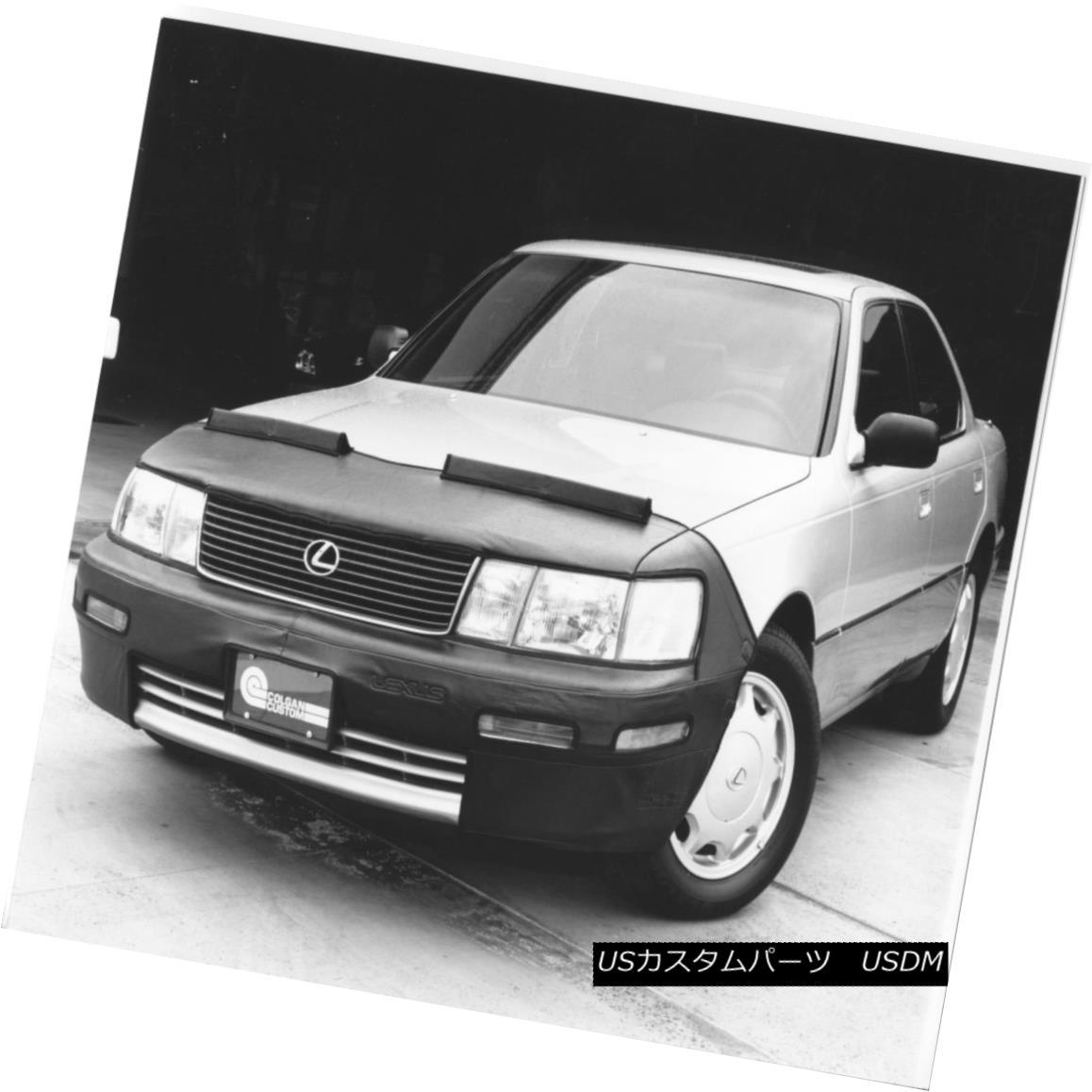 フルブラ ノーズブラ Colgan 2pc. Mask Bra + Mirror Covers Fits Lexus LS400 1990-1994 With Front Plate コルガン2個。 マスクブラ&ミラーカバーはLexus LS400 1990-1994に適合フロントプレート付き