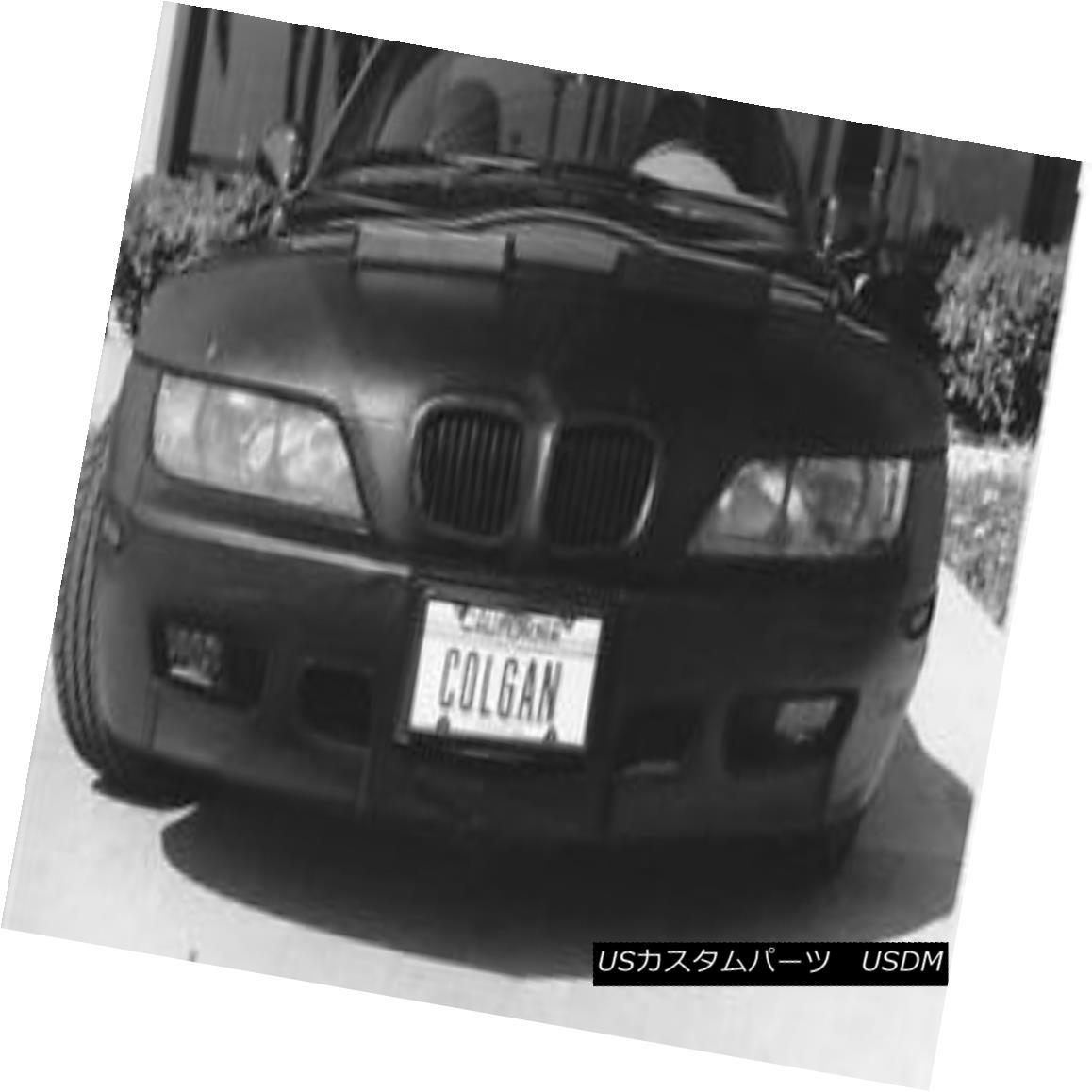 フルブラ ノーズブラ Colgan Front End Mask Bra 2pc. Fits BMW Z3, 1.9 Roadster 1996-98 W/O Front TAG コルガンフロントエンドマスクブラ2pc BMW Z3、1.9ロードスター1996-98 W / OフロントTAGに適合