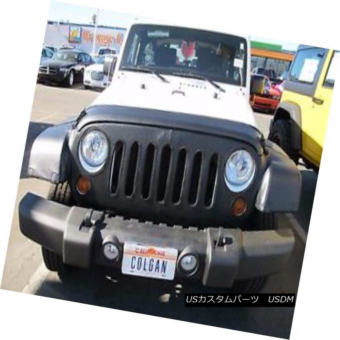 フルブラ ノーズブラ Colgan Front End Mask Bra 2pc. Fits Jeep Wrangler 2007-2014 W/O Lic.Plate コルガンフロントエンドマスクブラ2pc ジープラングラー2007-2014 W / O Lic.Plateに適合