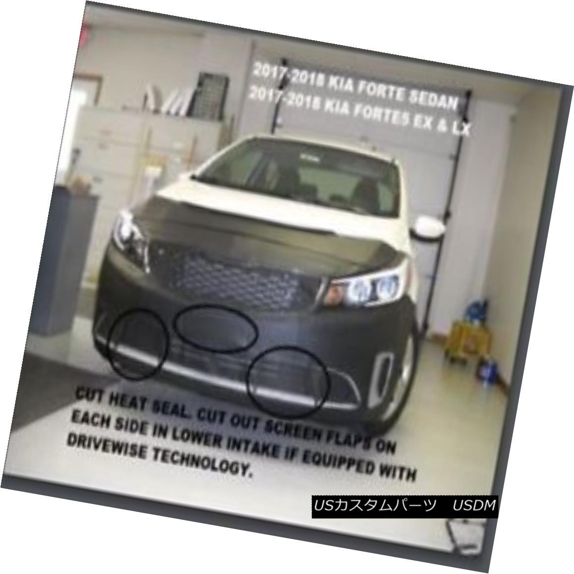 フルブラ ノーズブラ Lebra Front End Mask Bra Cover Fits Kia Forte Sedan 2017-2018 & Forte5 EX & LX LebraフロントエンドマスクブラジャーフィットKia Forte Sedan 2017-2018& Forte5 EX& amp; LX