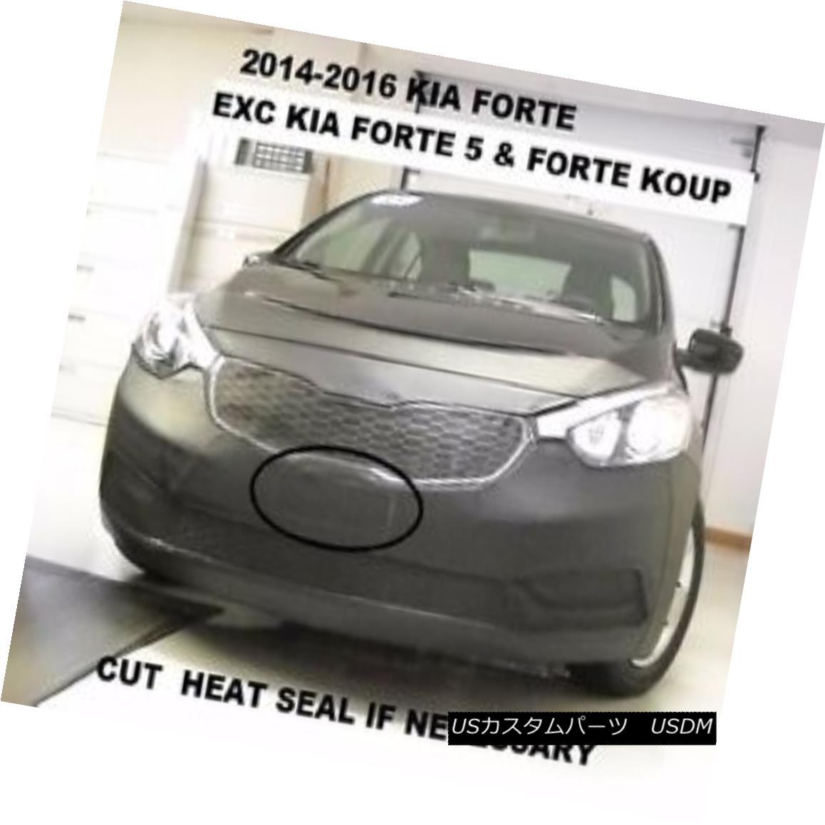 フルブラ ノーズブラ Lebra Front End Mask Cover Bra Fits Kia Forte 2014-2016 Exc. Forte5 & Forte Koup Lebraフロントエンドマスクカバーブラは、Kia Forte 2014-2016に適合します。 Forte5& フォルテクープ