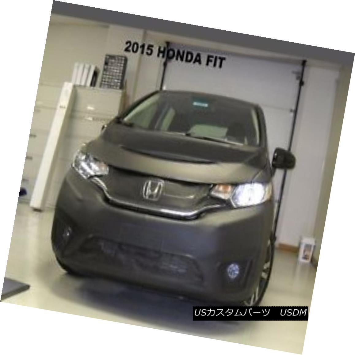 フルブラ ノーズブラ Lebra Front End Mask Cover Bra Fits Honda Fit 2015-2017 LebraフロントエンドマスクカバーブラはHonda Fit 2015-2017に適合