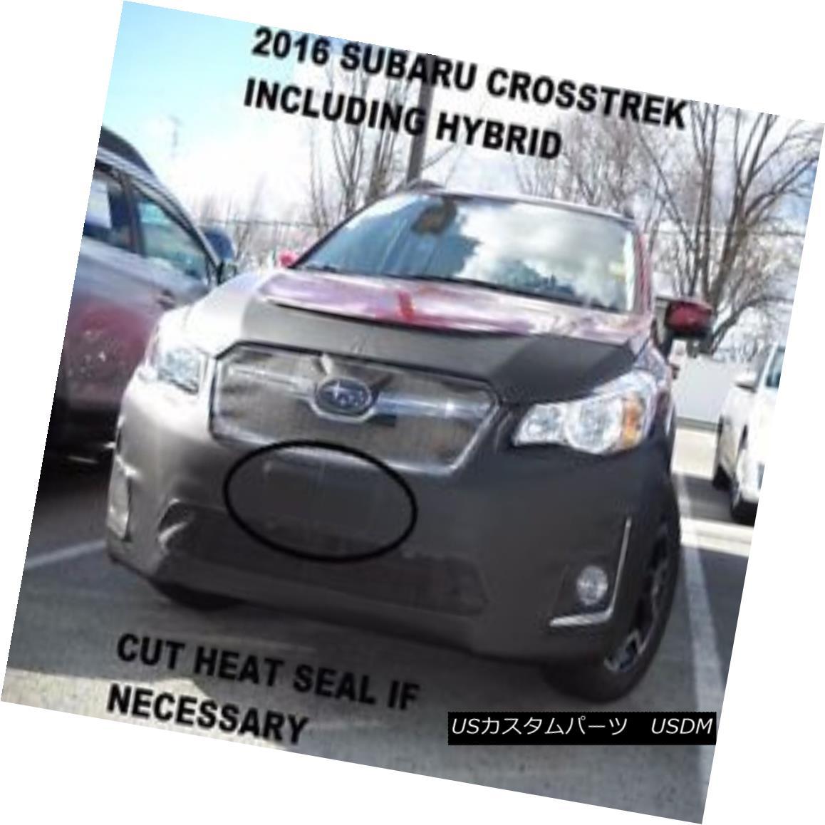 フルブラ ノーズブラ Lebra Front End Mask Bra Fits Subaru XV Crosstrek Incl. Hybrid 2016-2017 LebraフロントエンドマスクブラはSubaru XV Crosstrek Inclに適合 ハイブリッド2016-2017