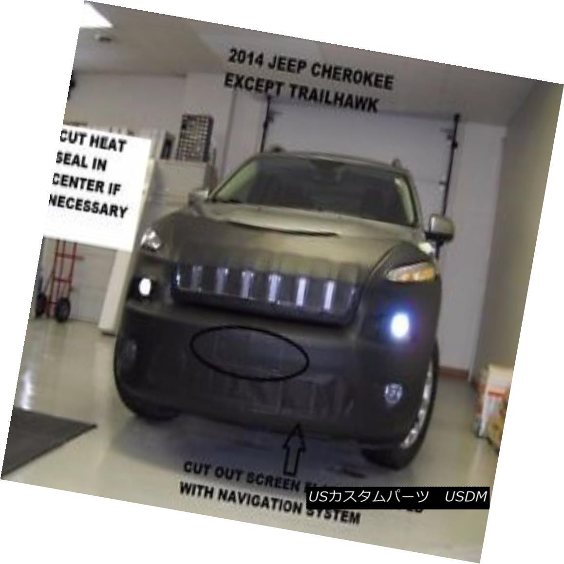 フルブラ ノーズブラ Lebra Front Mask Cover Bra Fits 2014-2018 Jeep Cherokee w/o sensrs Exc.Trailhawk Lebraフロントマスクカバーブラフィット2014-2018 Jeep Cherokee w / o sensrs Exc.Trailhawk