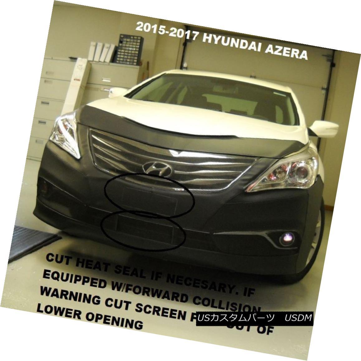 フルブラ ノーズブラ Lebra Front End Mask Cover Bra Fits Hyundai Azera 2015-2017 現代アゼラ2015-2017に合うLebraフロントエンドマスクカバーブラ