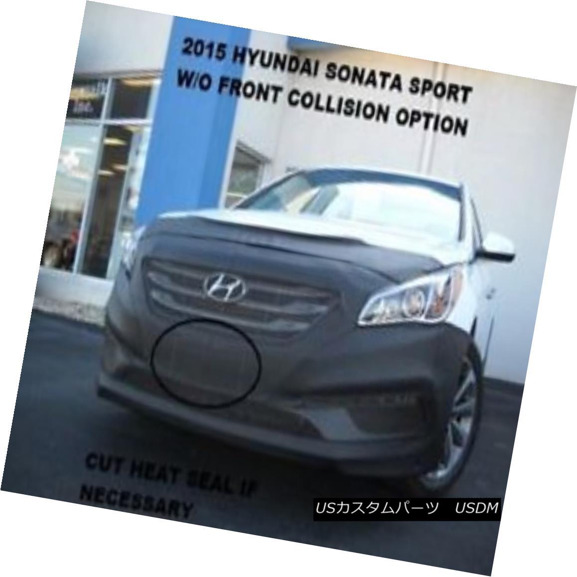 フルブラ ノーズブラ Lebra Front Mask Cover Bra Fits 2015-17 Hyundai Sonata Sport w/o Front collision Lebraフロントマスクカバーブラは2015-17現代ソナタスポーツ(フロント衝突なし)に適合