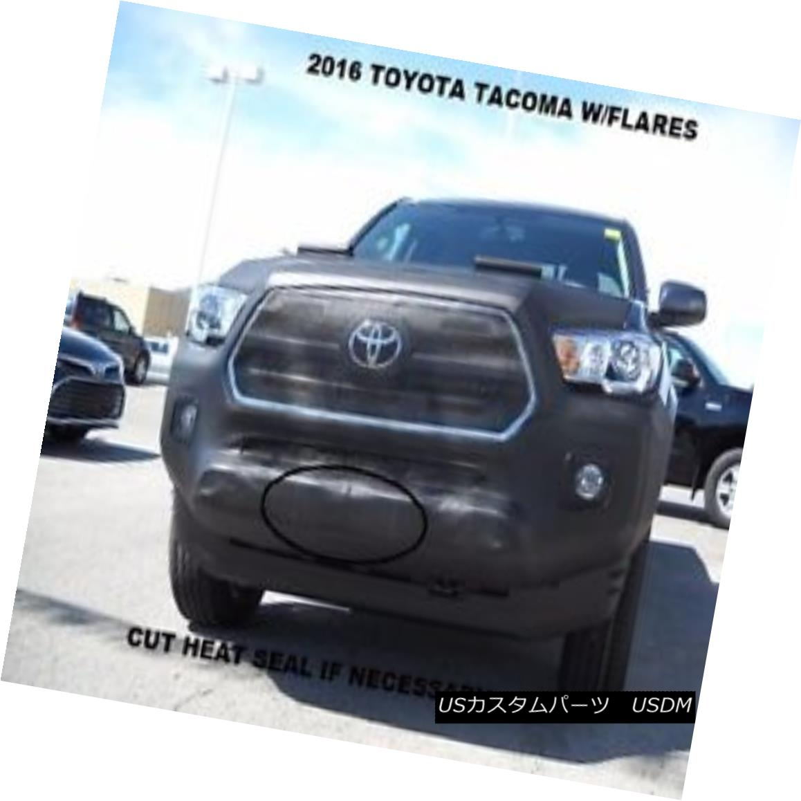 End Lebra Lebraフロントエンドマスクカバーブラは2016-2018に合っていますTOYOTA Mask 16-18 2016-2018 Fits 16-18 Flares TOYOTA Flares Bra Tacoma With Tacoma With フルブラ ノーズブラ Front Cover