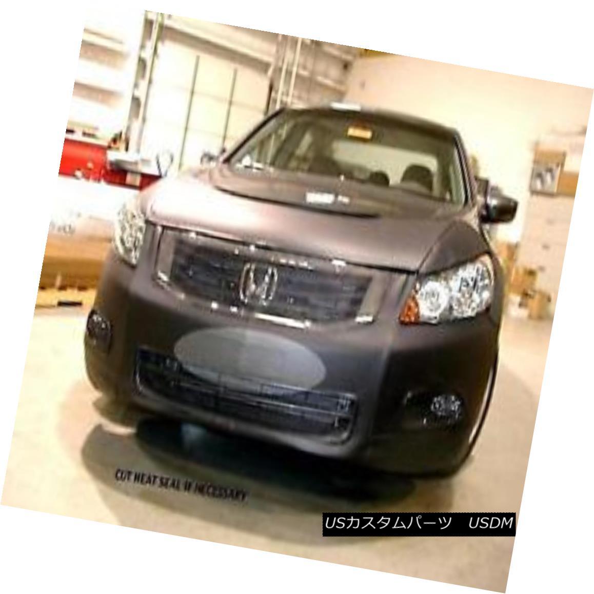 フルブラ ノーズブラ Lebra Front End Mask Bra Cover Fits 2008-2010 HONDA ACCORD Sedan with Fog Lights Lebraフロントエンドマスクブラジャーカバー2008-2010 HONDA ACCORDセダンフォグライト付き