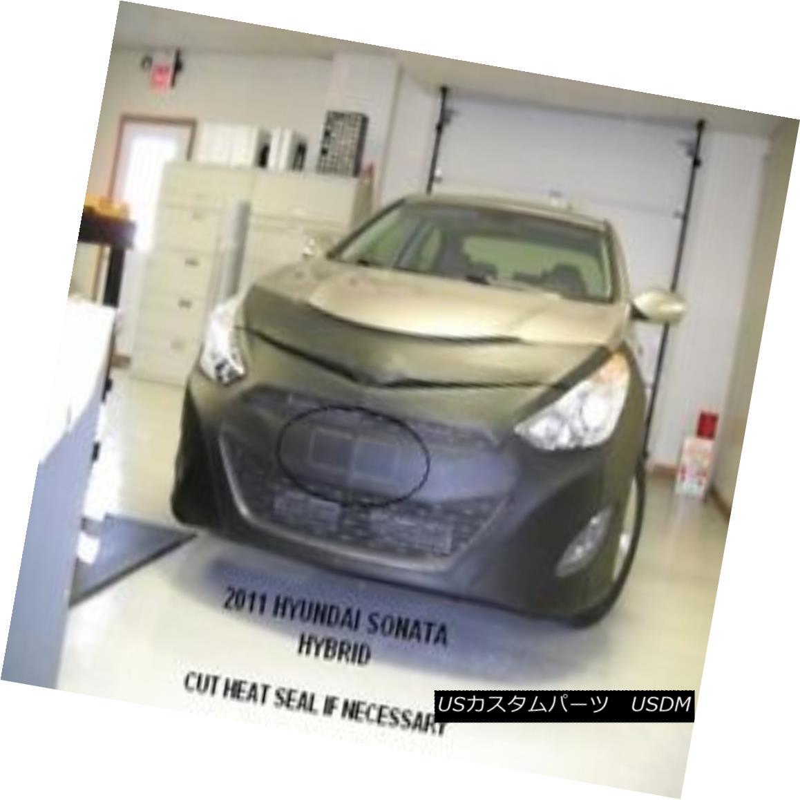 フルブラ ノーズブラ Lebra Front End Mask Cover Bra Fits 2011-2015 Hyundai Sonata Hybrid Model Lebraフロントエンドマスクカバーブラは2011-2015現代ソナタハイブリッドモデルに適合