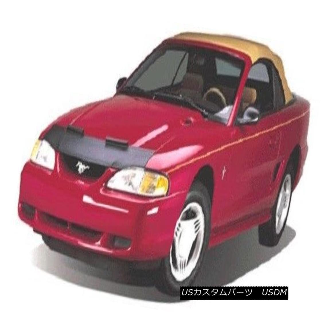 フルブラ ノーズブラ Lebra Hood Protector Mini Mask Bra Fits 2005-2007 Ford Focus Lebraフードプロテクターミニマスクブラは2005-2007 Ford Focusに適合