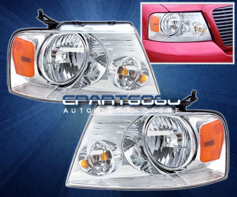 車用品 バイク用品 >> パーツ ライト ランプ その他 コーナーライト 04-08 Ford Lamps F150ピックアップクロームクリスタルアンバーヘッドライトランプ交換ライト Seasonal Wrap入荷 F150 Headlights Pickup Chrome Amber Crystal Replacement ご注文で当日配送 Lights