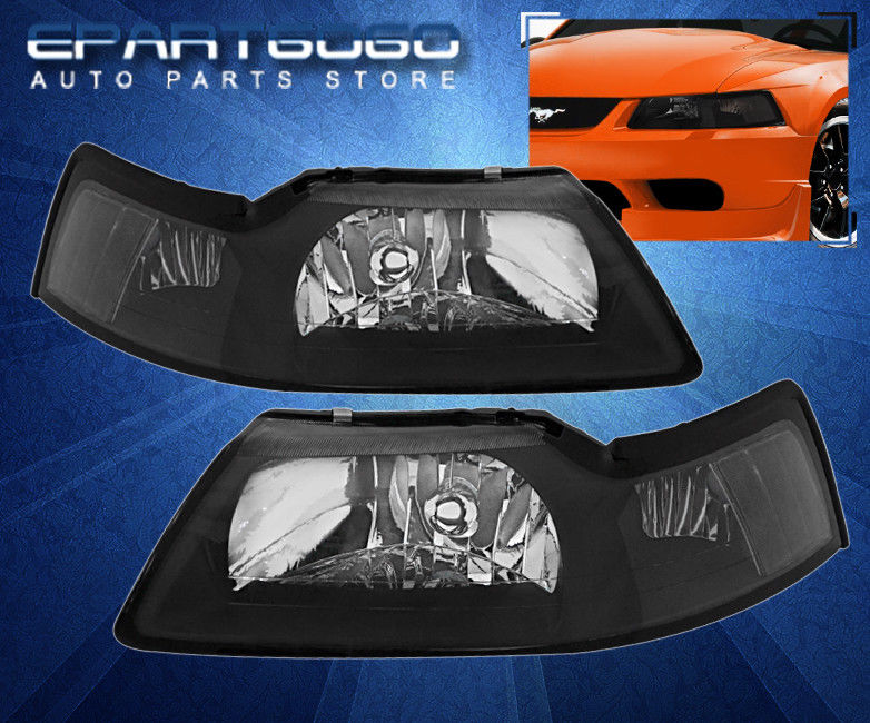 コーナーライト 99-04 Mustang Gt Cobra Black Clear Headlights With 8 Led 6000K Drl Fog Lights 99-04 Mustang Gtコブラブラック8ヘッド6000K Drlフォグライトとクリアヘッドライト