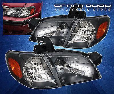 コーナーライト 97-05 Venture Silhouette Black Headlights + Corner with 6000K 8 LED DRL Fog Lamp 97-05ベンチャーシルエットブラックヘッドライト+ 6000K 8 LED DRLフォグランプ付きコーナー