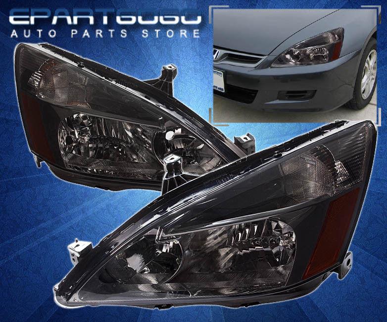コーナーライト 2006-2007 HONDA ACCORD 4DR SMOKE AMBER CORNER HEADLIGHT+ FOG LAMP ASSEMBLY UNIT 2006年?2007年ホンダアコード4DRソーラーコーナーヘッドライト+フォグランプユニット