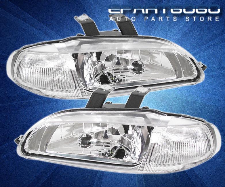 コーナーライト 92-95 Civic 2/3D JDM 1Pc Chrome Headlights Clear Corner with 8 LED 6000K DRL Fog 92-95 Civic 2 / 3D JDM 1Pcクロームヘッドライトクリアーコーナー、8 LED 6000K DRLフォグ