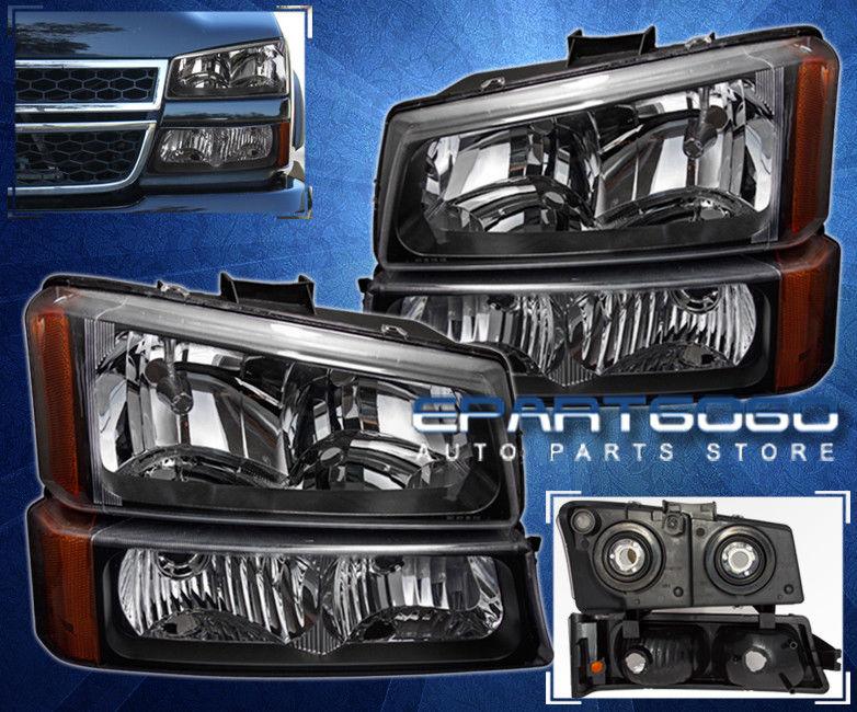 コーナーライト 03-06 Silverado Avalanche 1500 2500 Replacement Head Lights + Bumper Turn Signal 03-06 Silverado雪崩1500 2500交換用ヘッドライト+バンパーターンシグナル