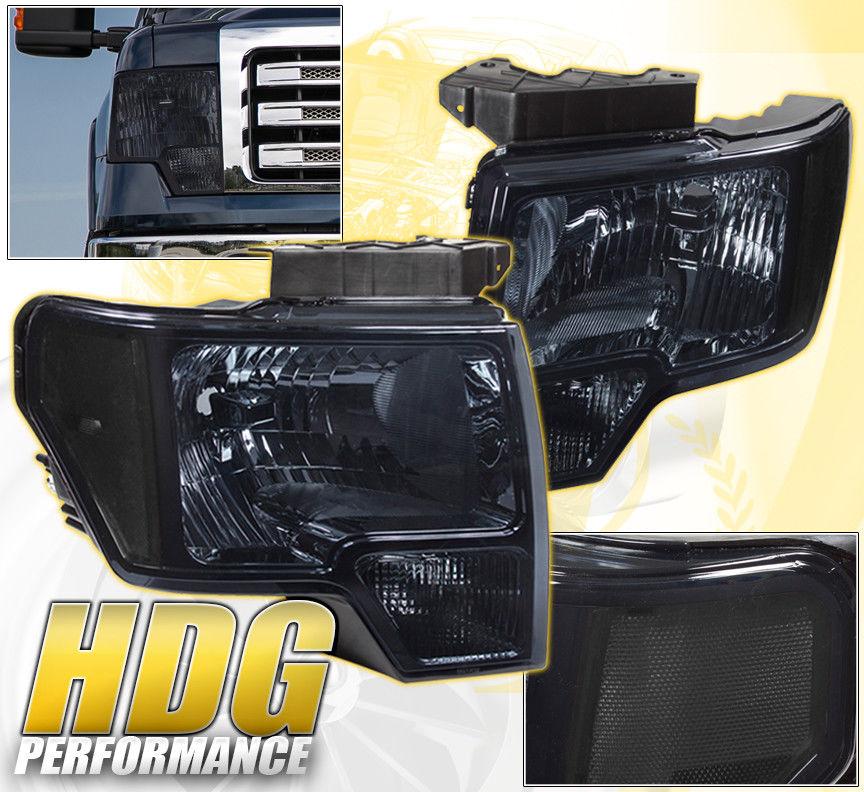 コーナーライト 09-14 F-150 F150 FRONT BUMPER REPLACEMENT HEAD LIGHTS LAMPS TURN SIGNAL SMOKE 09-14 F-150 F150フロントバッファーの交換ヘッドライトランプターンシグナルSMOKE
