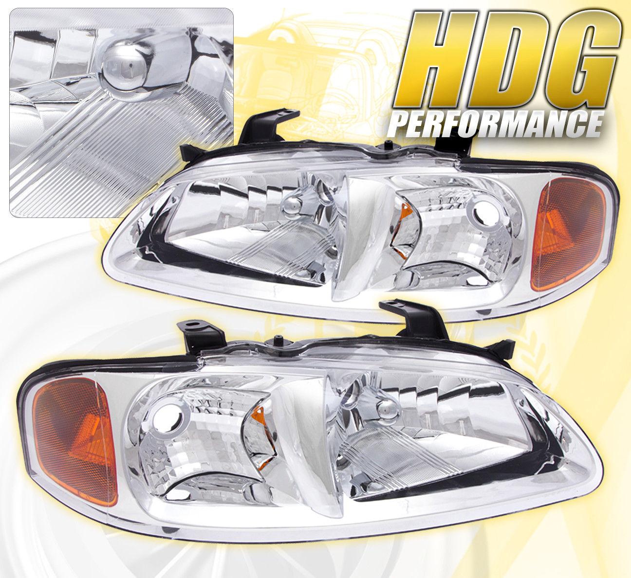 コーナーライト REPLACEMENT DRIVING HEAD LIGHTS LAMPS PAIR ASSEMBLY UNIT CLEAR FOR 00-03 SENTRA 交換用ヘッドライトランプのペア組立ユニットが00-03 SENTRAのためにクリアされています