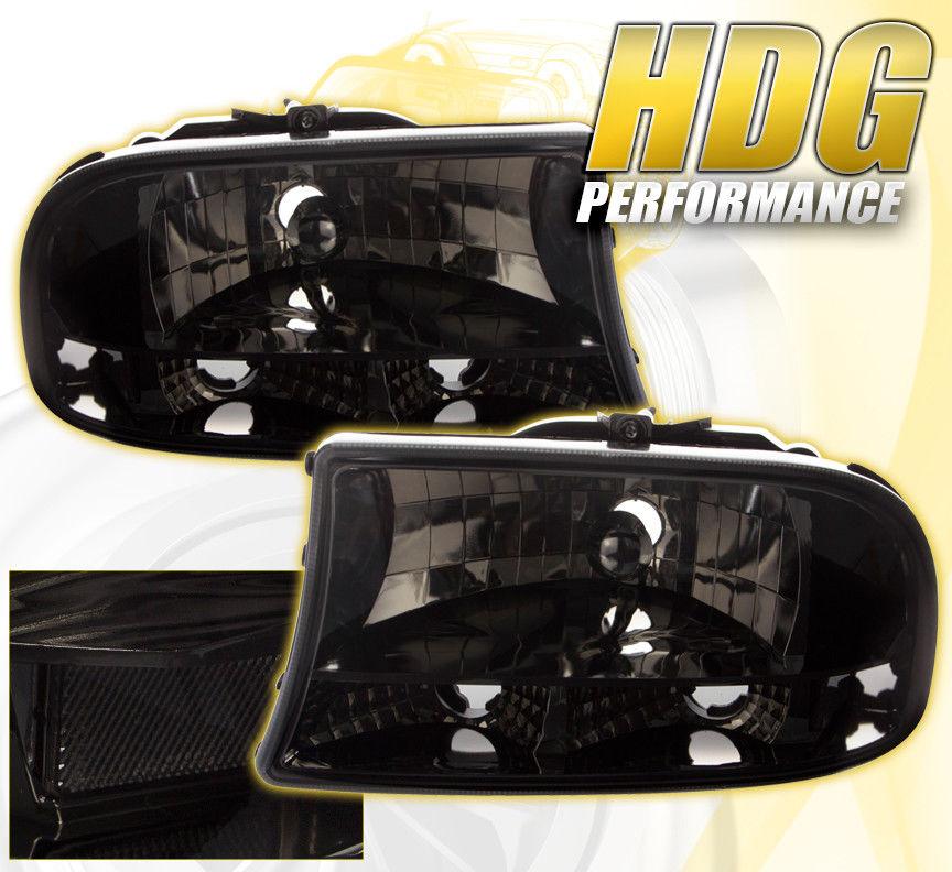 コーナーライト Dodge Dakota Durango Direct Replacement Headlights Park Signal Lens Lh Rh Smoke Dodge Dakota Durangoダイレクト交換ヘッドライトパーク信号レンズLh Rh Smoke