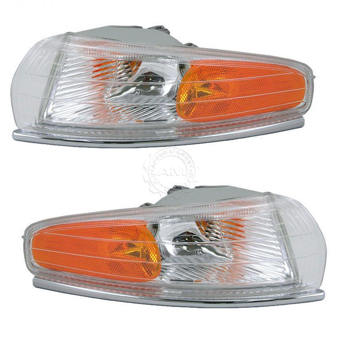 コーナーライト Front Side Marker Park Light Turn Signal Pair Set for Chrysler LHS New Yorker クライスラーLHSニューヨーカーのフロントサイドマーカーパークライトターンシグナルペア