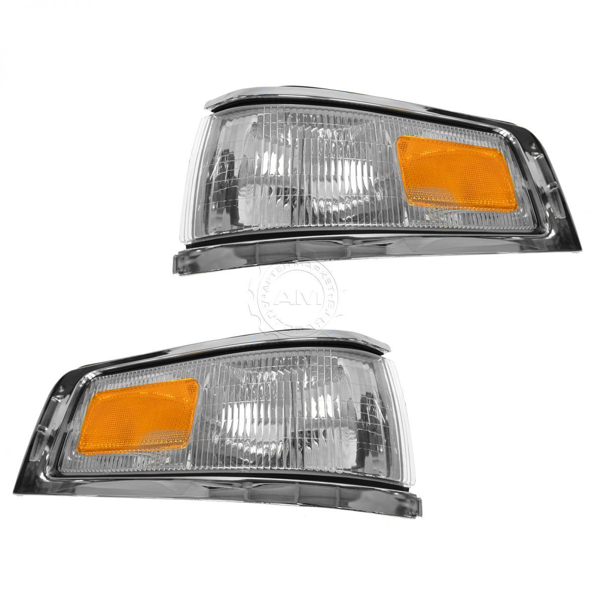 コーナーライト Marker Signal Blinker Corner Parking Light Lamp Pair Set for 95-97 Town Car マーカー信号点滅灯コーナーパーキングライトランプペア95-97タウンカー用