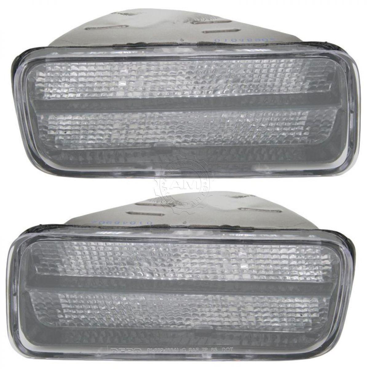 コーナーライト Side Corner Parking Light Lamp Clear Pair Set for 85-92 Chevrolet Camaro Z28 サイドコーナーパーキングライトランプクリアペア85-92シボレーカマロZ28用