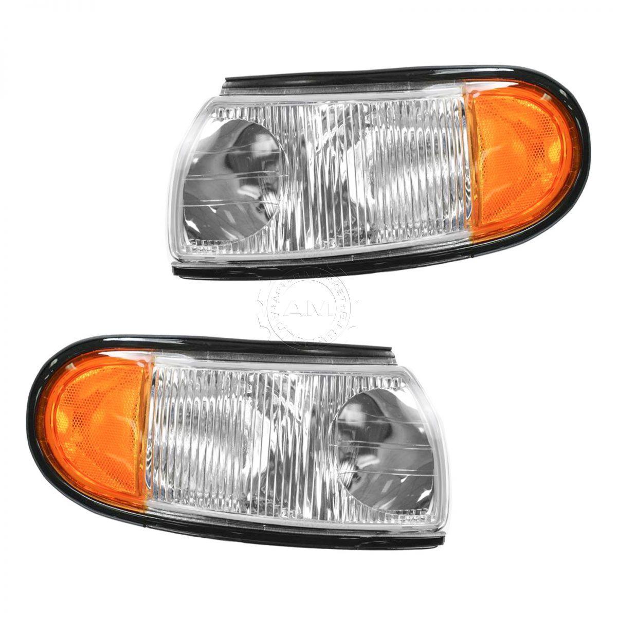 コーナーライト Marker Signal Blinker Indicator Corner Parking Light Pair Set for 96-98 Villager マーカー信号点滅インジケータコーナー駐車場ライトペア96-98居住者用