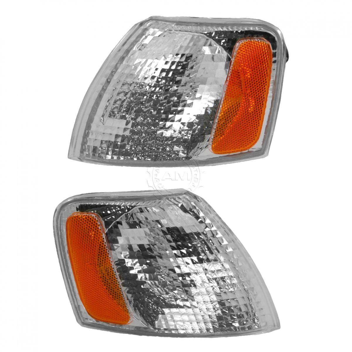 コーナーライト Corner Parking Turn Signal Light Lamp Left & Right Pair Set for 98-01 Passat コーナーパーキングターンシグナルライトランプ左& 右ペアは98 - 01パサートにセット