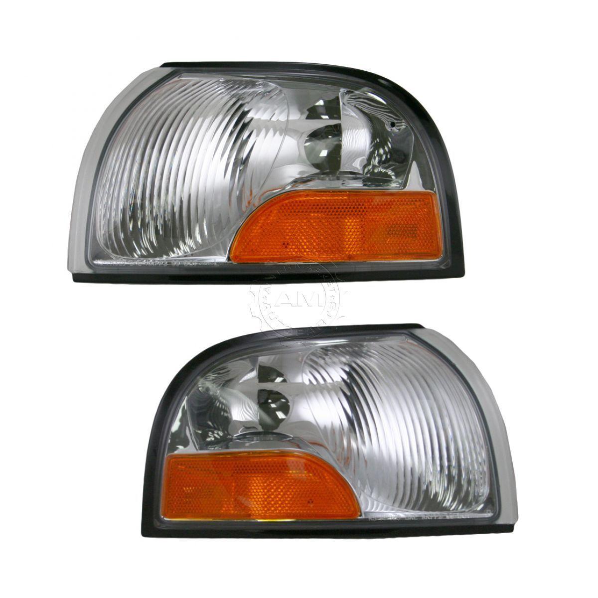 コーナーライト Front Corner Marker Turn Signal Parking Lights Lamps Pair Set for Quest Villager フロントコーナーマーカーターンシグナルパーキングライトランプペアクエストビレッジ